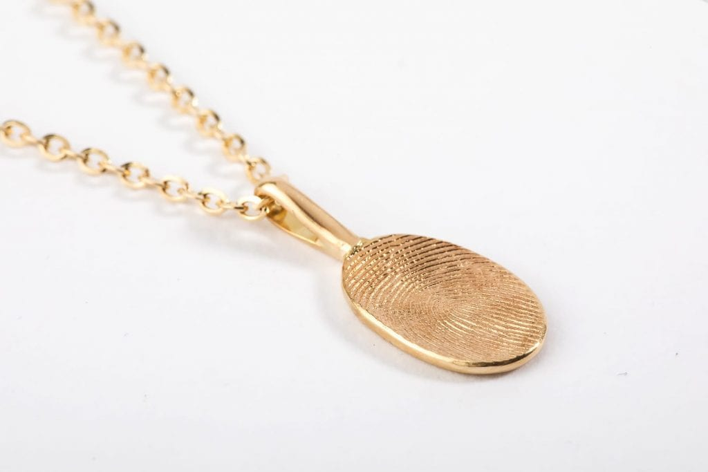 oval print necklace main pic
