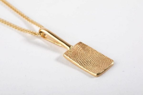 small rectangle print necklace main pic