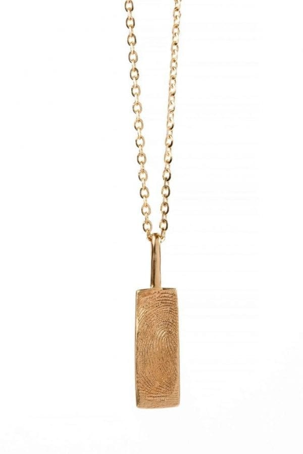 big rectangle print necklace pic 1