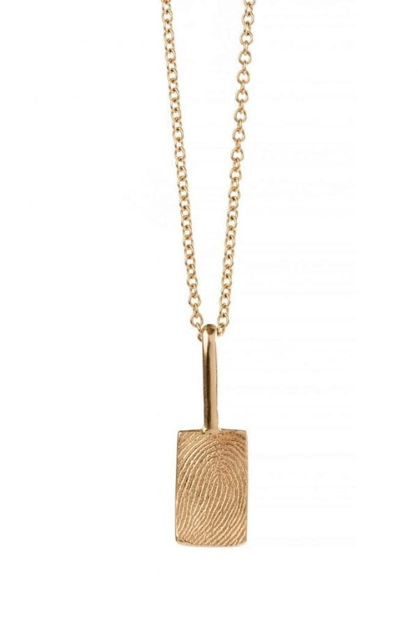 small rectangle print necklace pic 1