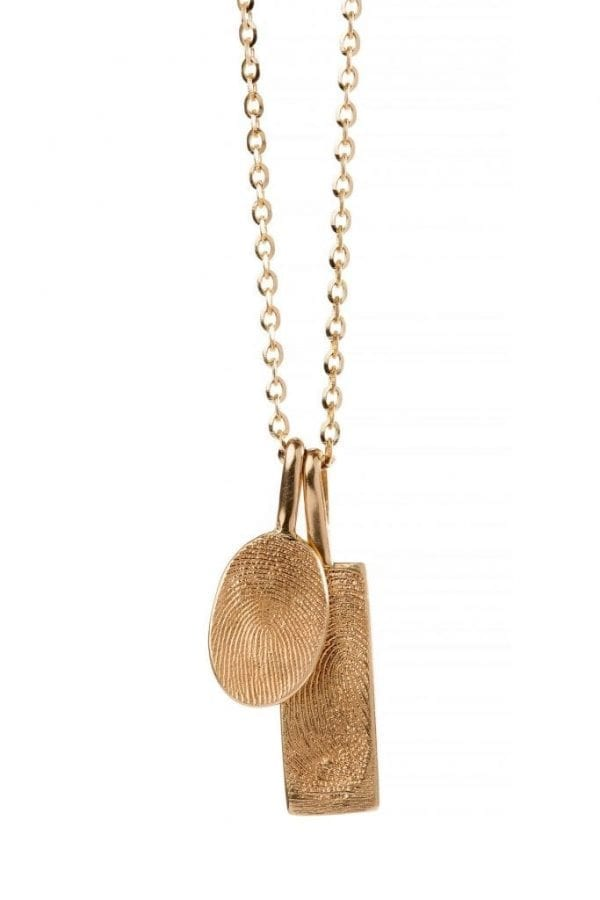 rectangle oval print necklace pic 1