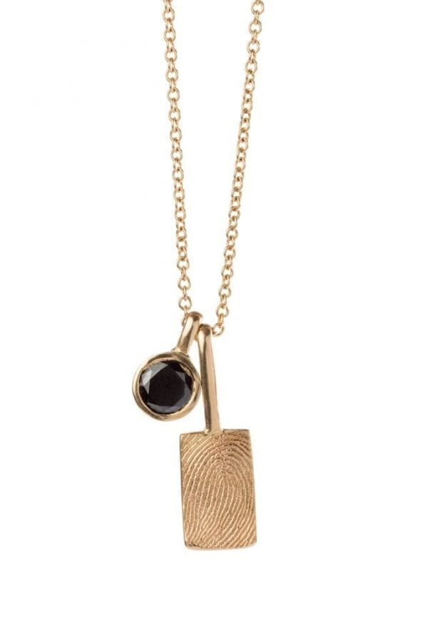small rectangle print necklace pic 2
