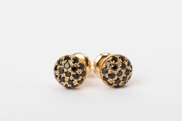 black diamond earring-1