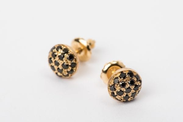 black diamond earring-2